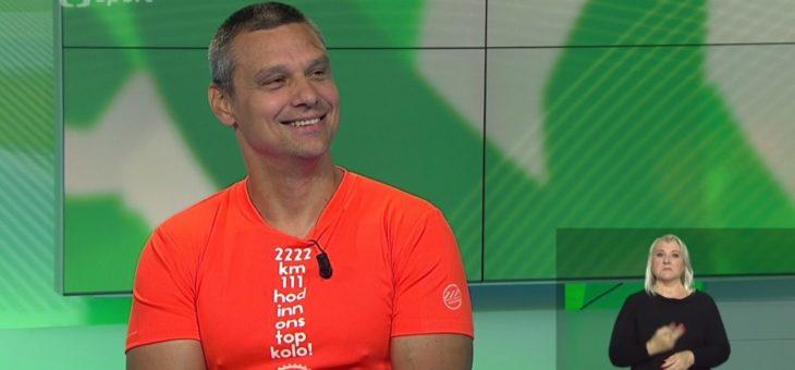 Heřá Volf na ČT Sport o Metrostav handy cyklo maratonu 2017