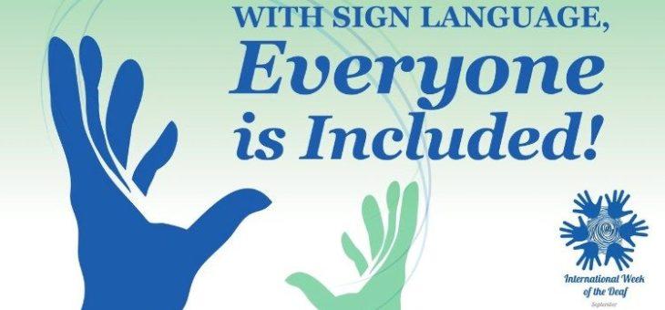 Mezinárodní týden neslyšících a znakového jazyka