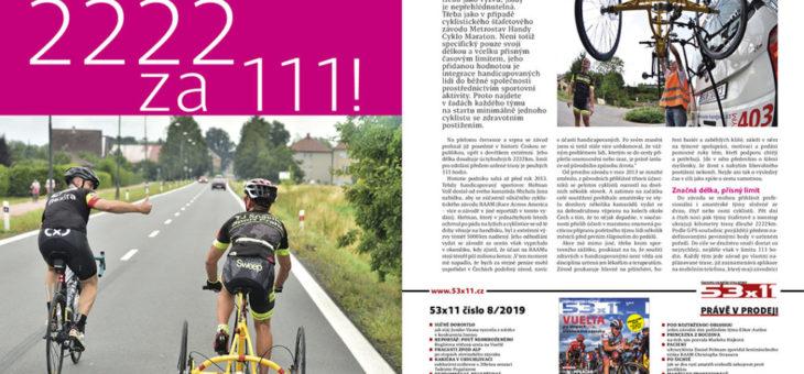 Reportáž z Handy Cyklo Maratonu v časopisu Velo
